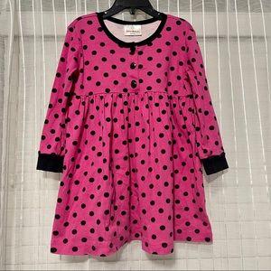 Hanna Andersson Pink & Black Polka Dot Play Dress